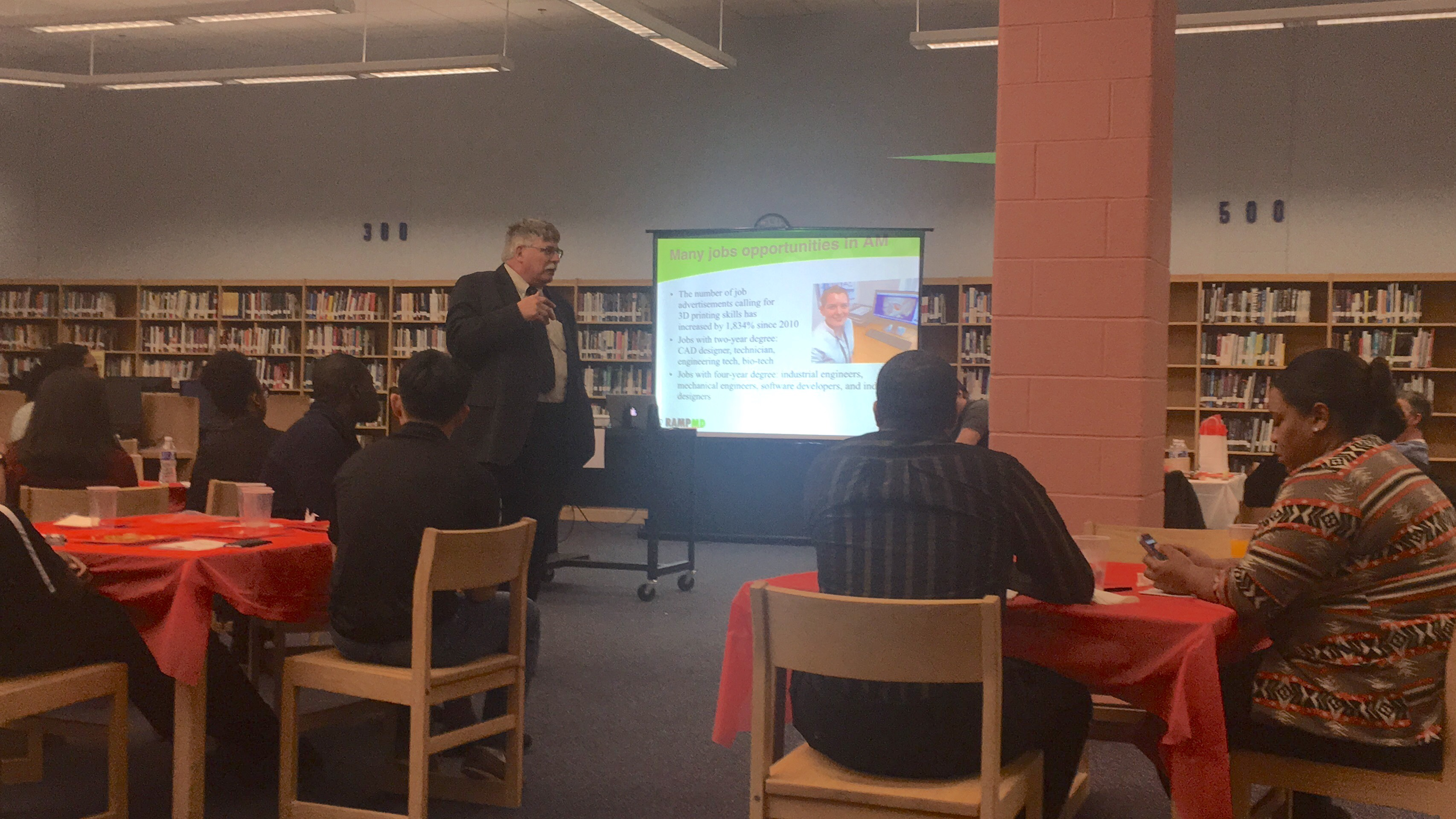 RAMP MD Executive Director Rick Decker keynoted a Project Lead The Way  (PLTW) workshop at River Hill High School in Howard County on January 11,  2018.